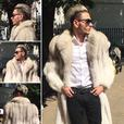 SAGAFOX WHITE ARCTIC FOX FUR COAT FULL LENGTH