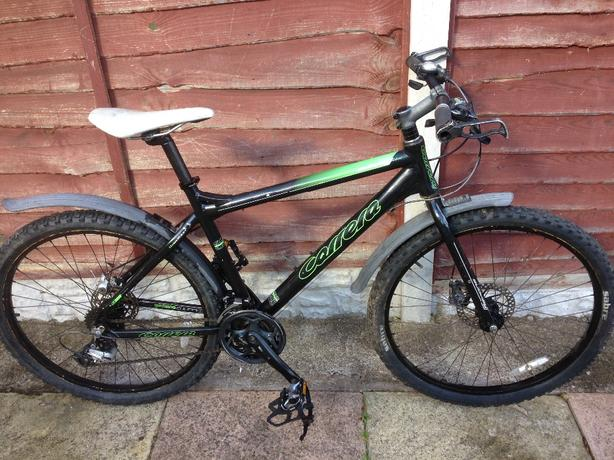  Log In needed £105 · MENS 20 INCH CARRERA SUBWAY LIMITED EDITION DISC  BRAKE MOUNTAIN BIKE 21 SPEED