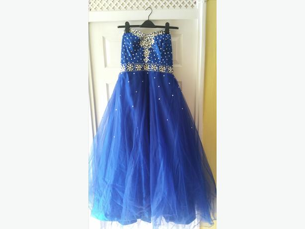 Dylanqueen Blue Prom Dress