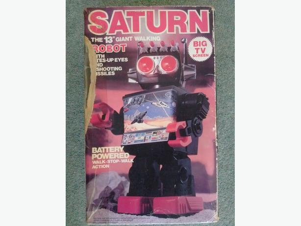 COLLECTIBLE  TOY ROBOT SATURN