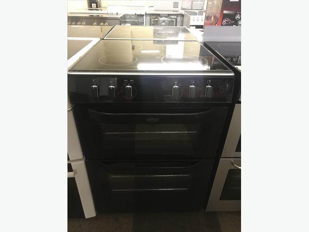 EXCELLENT BLACK BELLING 60 CM WIDE ELECTRIC COOKER- GENUINE GUARANTEE