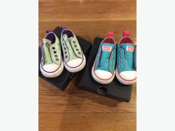 Two pairs of Infant size 4 Converse, £5 each pair