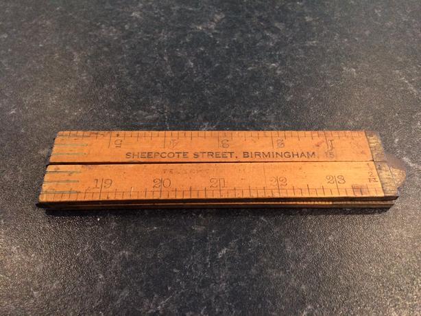 """Old vintage woodworking folding wooden ruler 24"""" or 2ft"""