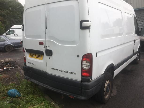 vauxhall movano 2.5 diesel 2007 plate long mot
