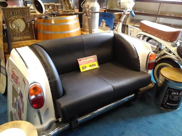 upcycled car sofa
