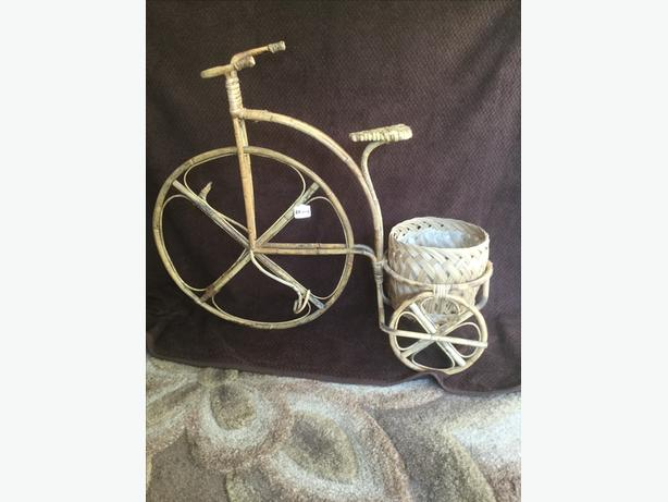 Penny farthing flower arranging baskets
