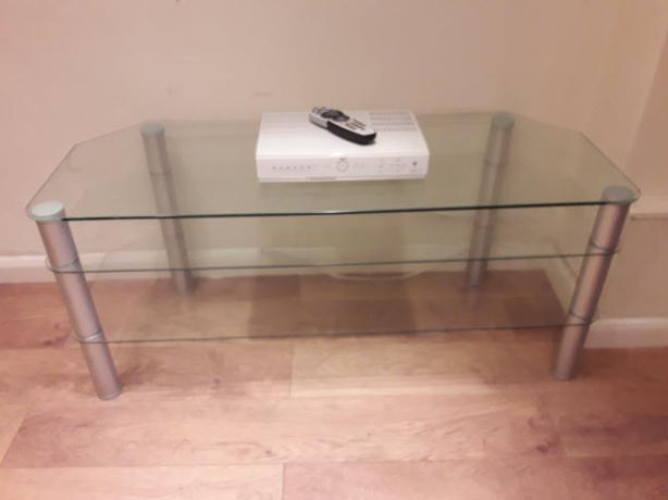 Glass TV Stand. Suitable for 42 inch TV.