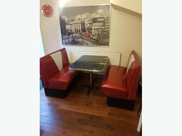 authentic 50s American table and seats