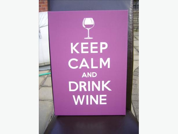 Keep Calm and Drink Wine - canvas