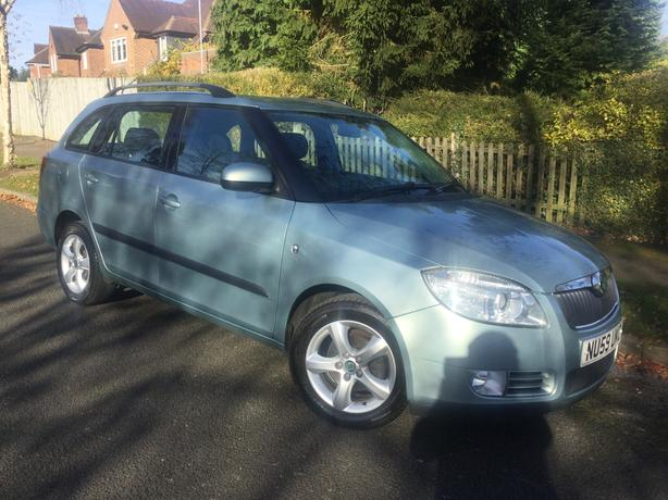 Skoda Fabia 1.4 TDi PD 80 Greenline estate with FSH & long MOT !