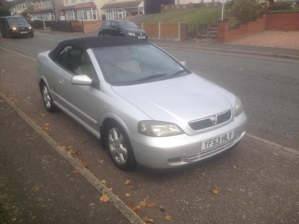 VAUXHALL ASTRA 2.2 AUTOMATIC CONVERTIBLE 53reg 2003