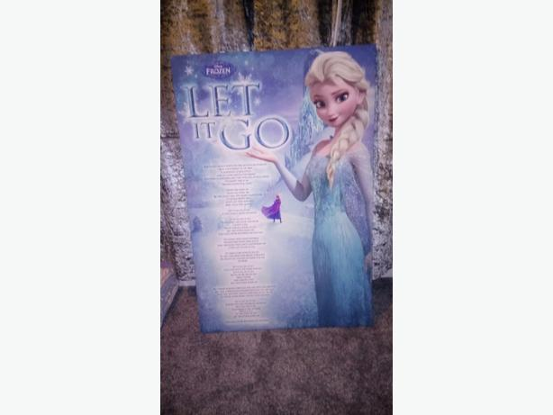 Large 90cm frozen song canvas