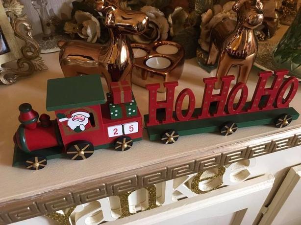 Wooden Christmas calendar train