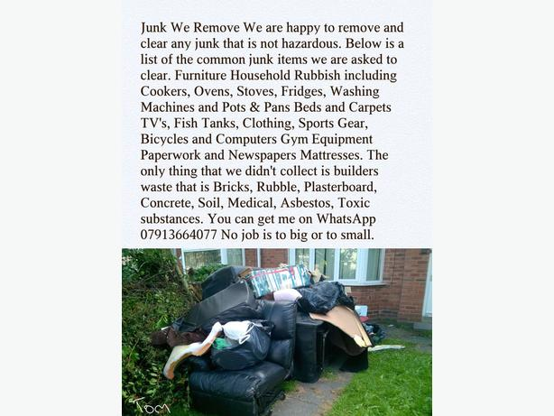 Timmys waste removal and house clearance service.