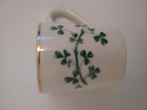 Vintage Arklow Pottery Lucky Shamrock Cup