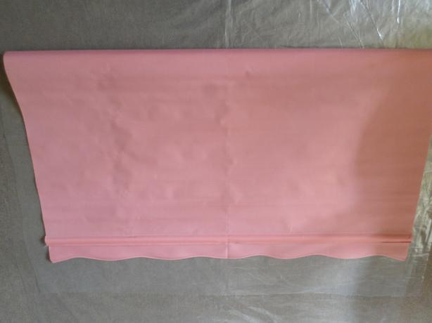 New pink scallop roller blind 4ft