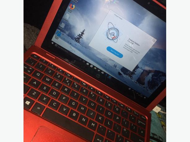 red detachable laptop