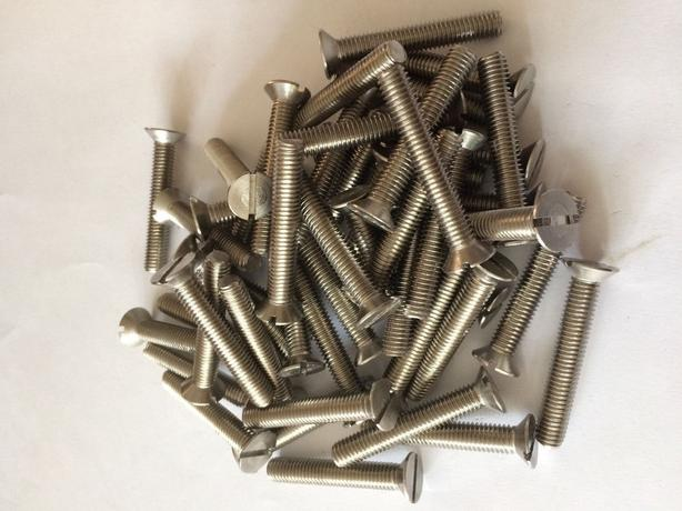 8mm M8 A2 STAINLESS STEEL SLOTTED COUNTERSUNK MACHINE SCREWS SLOT CSK