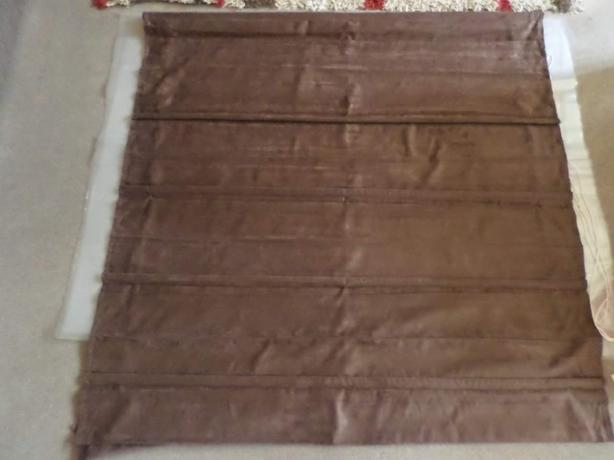 Chocolate brown faux suede Roman blind new 4ft