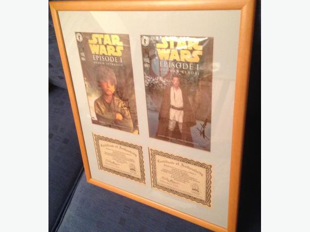 Star Wars signed & professionally framed comics