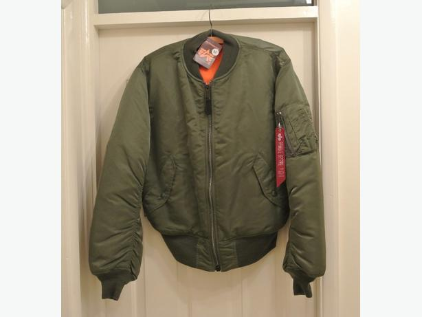 Genuine Alpha Industries MA1 pilot jacket. New with tags