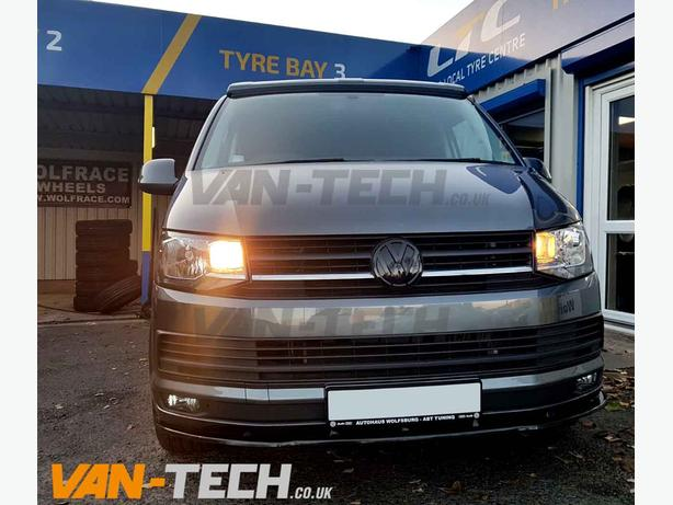 "VW T6 fitted with Wolfrace Classic 18"" Alloy Weels and Front Lower Splitter"