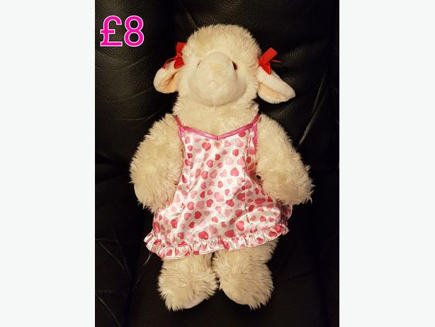 Bear A Bear Lamb With Dress And Knickers