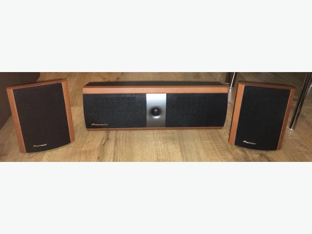 pioneer surround sound system in dark wood effect