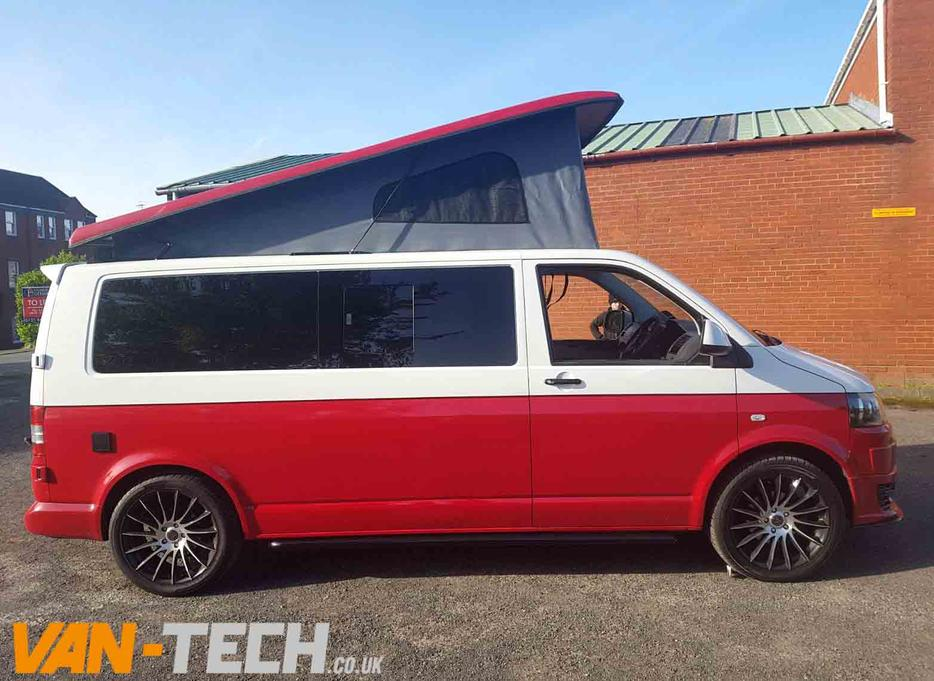 For Sale White And Red Two Tone Vw T5 Camper Van 2012