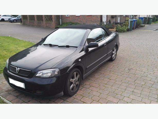 2004 black vauxhall astra 1.8 convertible+mot+tax needs some tlc DRIVEAWAY