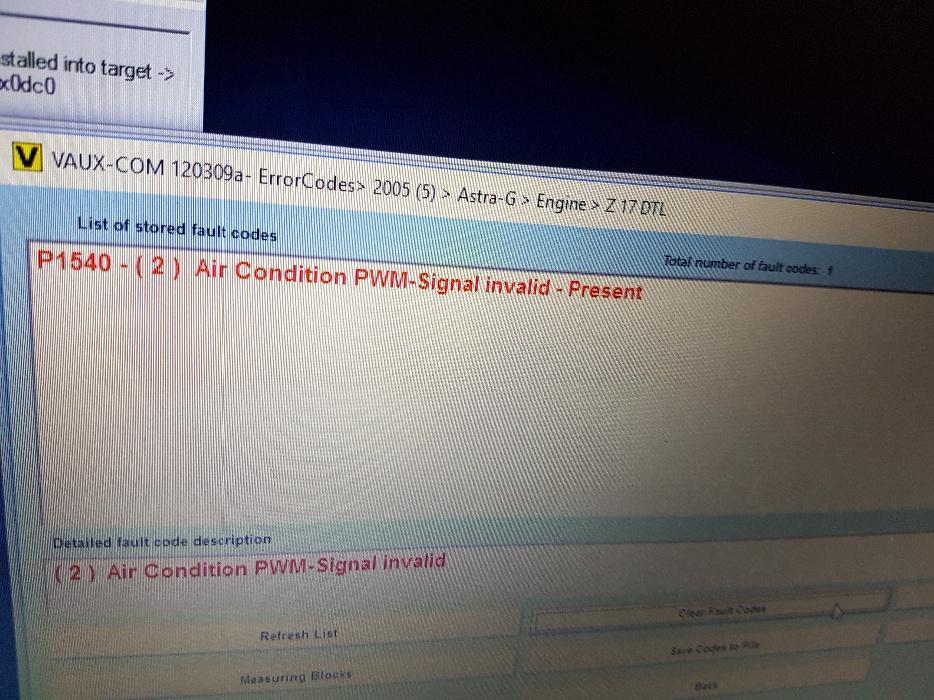 P1540 code astra