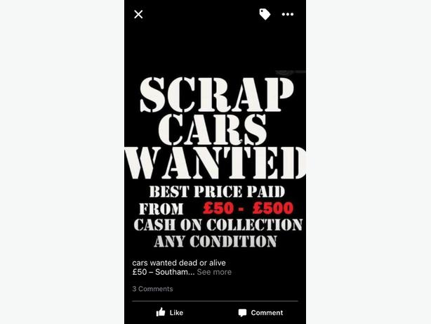 e75be60e30ce31 scrap cars and vans wanted Bilston