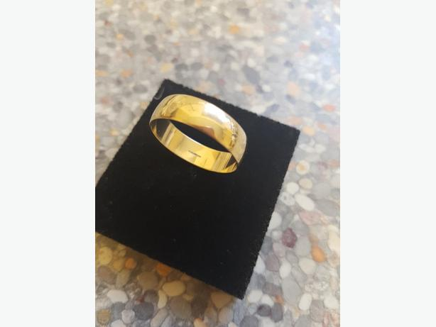 9ct 6mm size U wedding ring