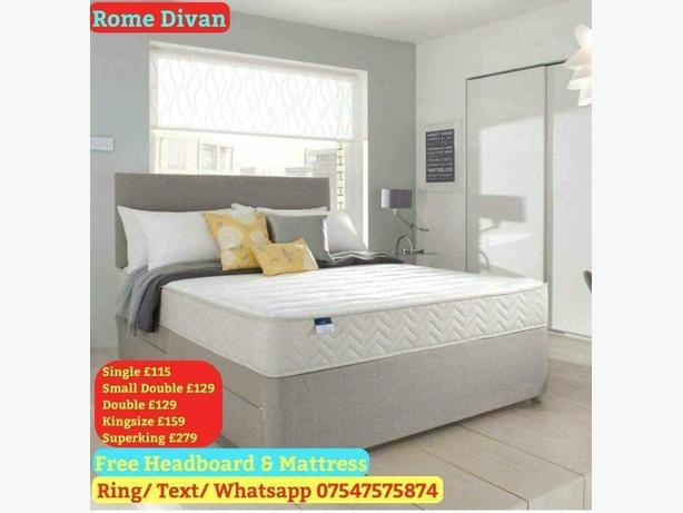 Brand New Divan + Headboard + Mattress