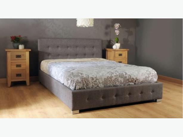 Nicole Fabric Double Storage Beds