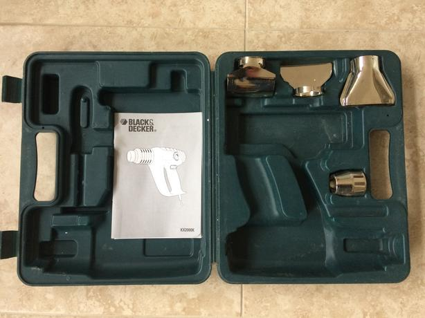 Black & Decker heatgun case & accessories for KX2000K