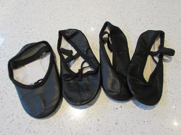 girls ballet shoes pumps size 10 and 10.5 black