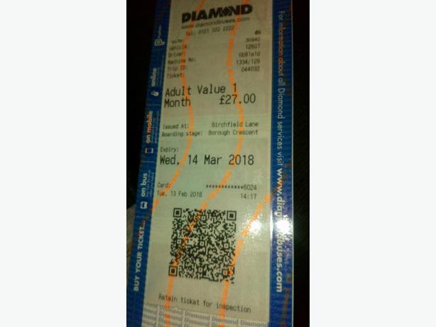 Monthly Diamond Bus pass
