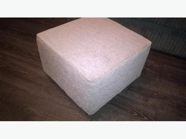 new gray poof footstool