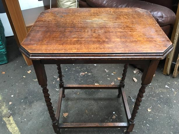 1930's Barley Twist Legged Hall Table.