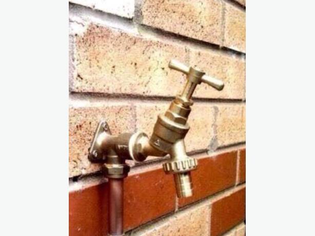 Garden taps installed