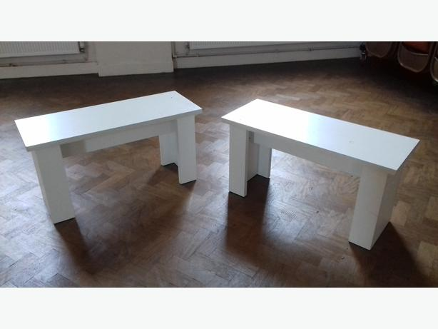 pair of Ikea kitchen benches
