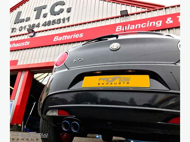 Alfa Mito Back Box Delete with Stainless Steel Twin Tip Tailpipe Exhaust