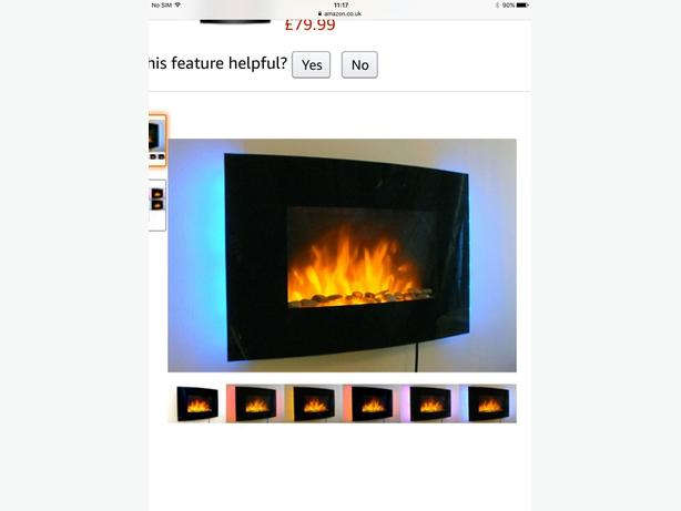 Pre owned 2kw wall mounted electric remote control fire