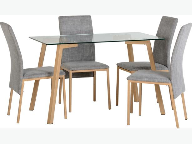 NORTON 4 CHAIR DINING SET