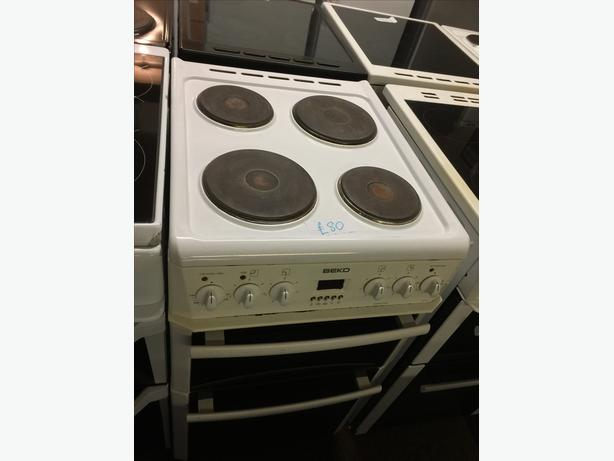 50CM W WHITE BEKO ELECTRIC COOKER 🌎🌎PLANET APPLIANCE🌎