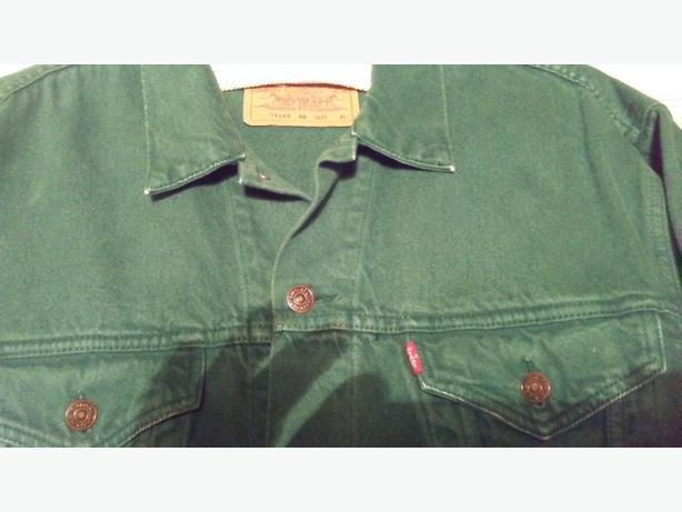 vintage green levi jacketi