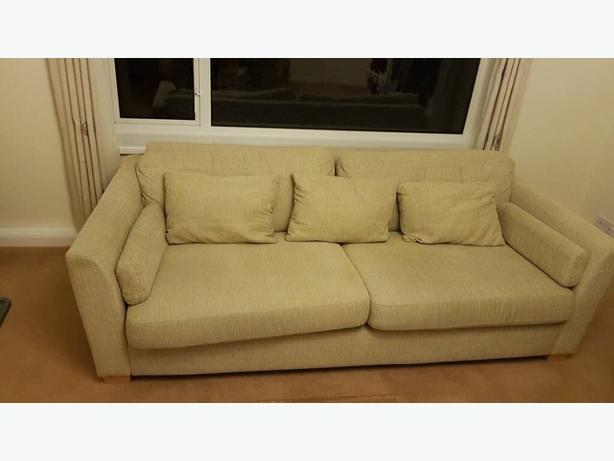 3 seater cream sofa