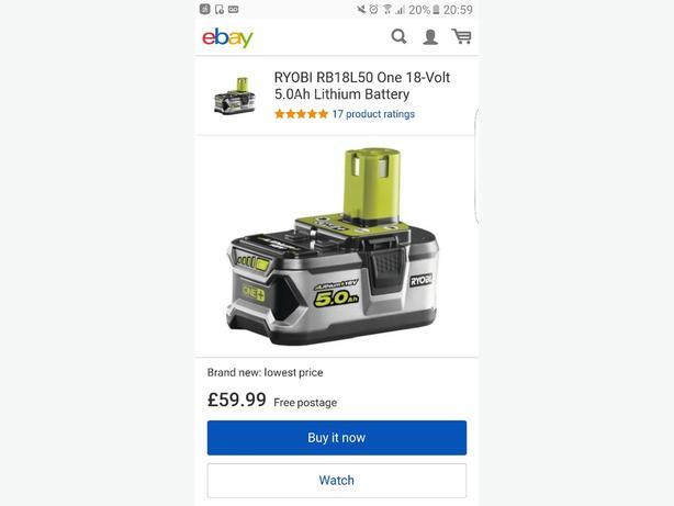 ryobi battery new