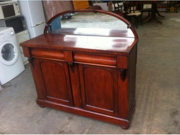 ANTIQUE VICTORIAN MAHOGANY 4ft CHIFFONIER \ MIRRORED SIDEBOARD ~~ CAN DELIVER